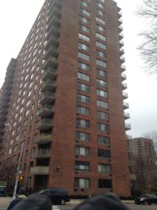 The Vaux condo as seen from Central Park west. Corner apartments are 2bd/2ba with terrace