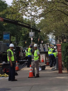 This morning a new station was being installed on the sidewalk between the Vaux condo at 372 CPW and 400 CPW.