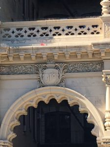 The archway at the entrance of 418 Central Park west.